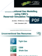 2011 What's New at CMG Event in Perth - Unconventional Gas Modelling