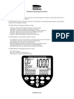 WRM7005 RevA UK A4 S4 Monitor Instructions