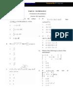Tancet Maths  Sample Paper