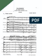 Danse sacrée et profane (orchestral score)