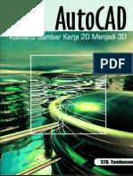 1856_AutoCad Konversi Gambar Kerja 2D Menjadi 3D