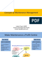 Maintenance Planning and Scheduling Concepts