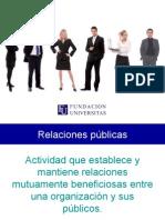 Relaciones Públicas e Institucionales - Fundación Universitas