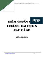 Diem Chuan DH - CD 2013 - Tong Hop VCV