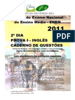 provão do enem 2011 - 2º dia - prova i - inglês