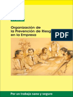 Organizacion de La Prevencion de Riesgos en La Empresa