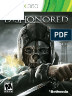 Dishonored XBox 360 Manual