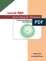 Bahan Ajar Teori Atom Thomson