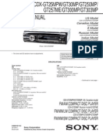 Sony cdx-gt300mp service manual
