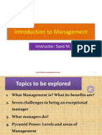 Introduction to Management-Week 1 & 2