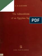 Admonitions of Egy 00 Gard