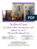 St. Rita Parish Bulletin 3/16/2014