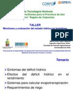 Monitoreo y Evaluacion Estado Hidrico Hortalizas 26 de Abril 2012