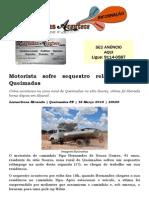 Motorista sofre sequestro relâmpago em Queimadas