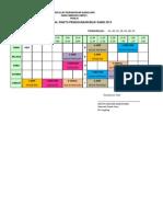 Jadual Penggunaan Bilik Sains 2013