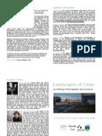 Landscapes of Crisis Programme