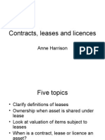 Contracts, leases and licences