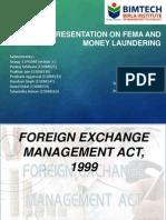 Presentation on FEMA and Money Laundering PGDM 13-15 Section C GROUP 1