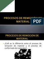 PROCESOS DE REMOCIÓN DE MATERIAL