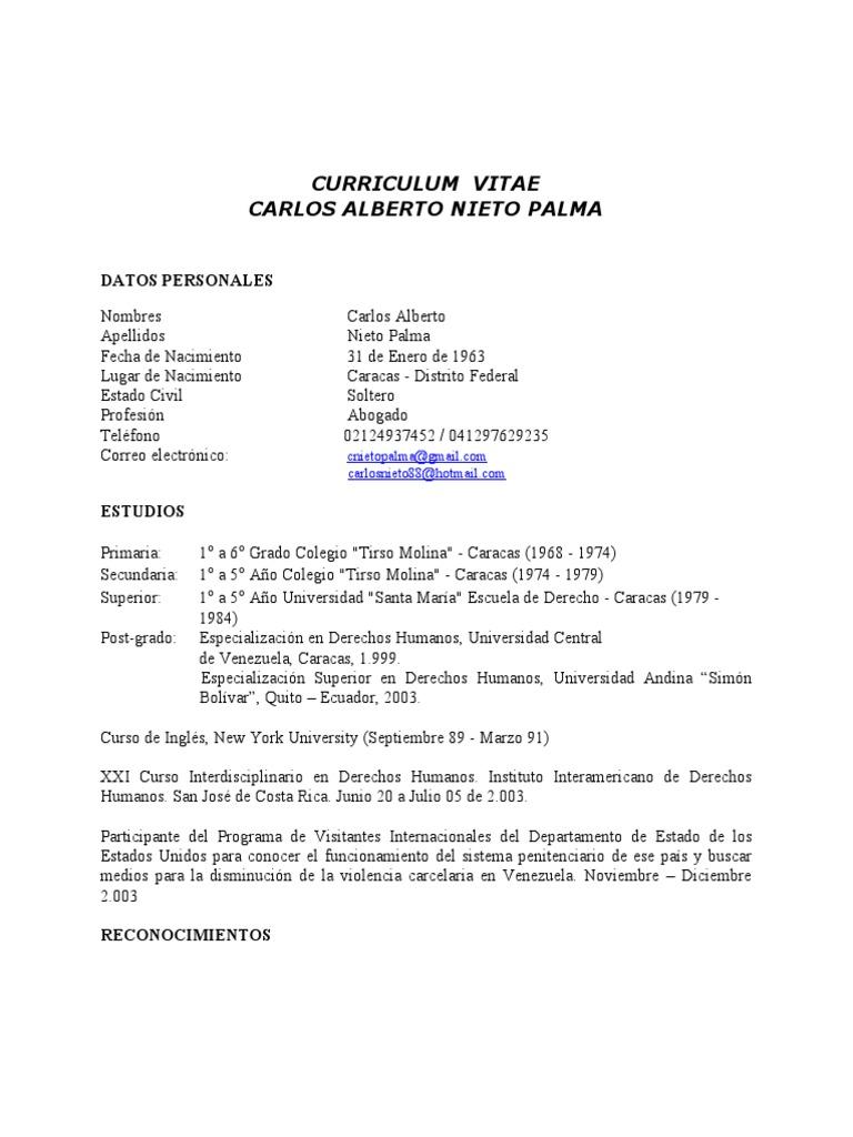 Canp Curriculum Vitae Web