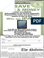 """2014 The Bulletin """"Win a Tablet"""" Sweepstakes - Order Form and Official Rules"""