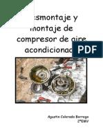 Desmontaje de Compresor de Aire Acondicionado