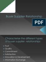 buyer supplier relationshp