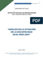 Análisis de la discapacidad en el Perú