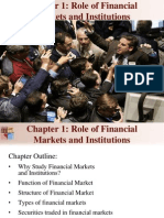 Chapter 1 Role of Financial Markets and Institutions
