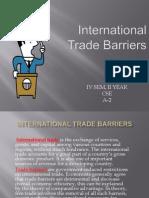 trade barrier ppt