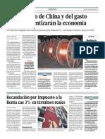 Menor ritmo China ralentirzará economía Perú_El Comercio_18-03-2014