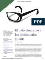 mi sociología_ El individualismo y los intelectuales (1898)
