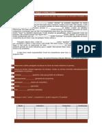 Ficha de avaliação sobre tempos e modos verbais