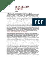 ACERCA DE LA ORACIÓN ININTERRUMPIDA