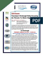 News Release -- Firebaugh Water Rally