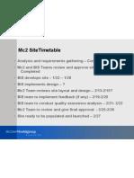 Mc2 Timetable