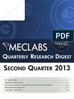 2013 Q2 Research Digest - MECLABS