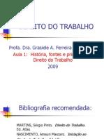 História, fontes e principios do Dir. Trabalho-2008
