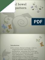 Abnormal Bowel Gas Pattern