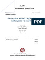 Study of Heat Transfer Coefficient in a Double Pipe Heat Exchanger
