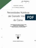 Requerimientos Nutricionales NRC Bov Carne 80