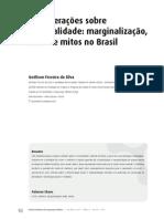 Considerações sobre criminalidade_SILVA, 2011