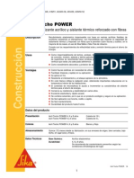 Impermeabilizante Acrilico Aislante Termico Fibras Acril Techo Power