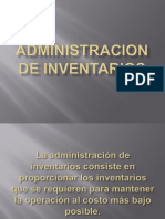 Administracion de Inventarios Presentacion