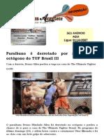 Paraibano é derrotado por nocaute no octógono do TUF Brasil III