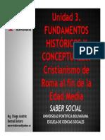 Unidad 3 Fundamentos históricos y conceptuales De Roma al fin de la Edad Media (Avances)