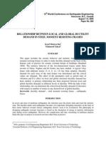 Relationship BetweeRELATIONSHIP BETWEEN LOCAL AND GLOBAL DUCTILITYn Local and Global Ductility