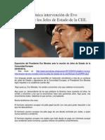Notable e ir+¦nica intervenci+¦n de Evo Morales ante los Jefes de Estado de la CEE.pdf