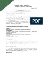 Programa-Función Social de la Administración de Justicia