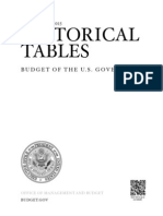 fiscal year 2015 HISTORICAL TABLES BUDGET O F THE U. S. G OVERNMENT